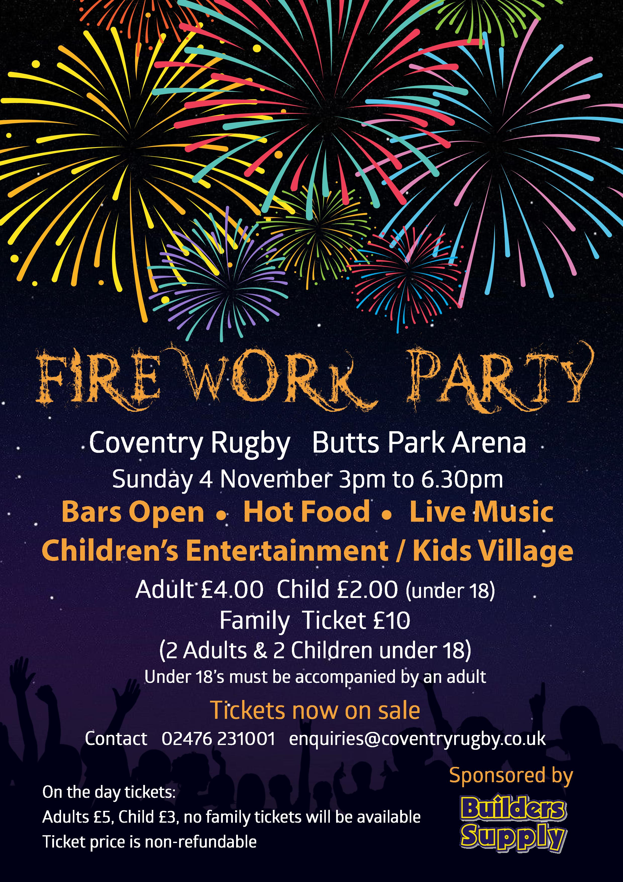 Fireworks Display Flyer 2018