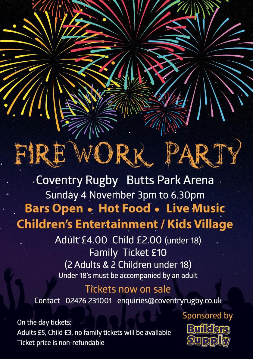 Fireworks Display Flyer 2018